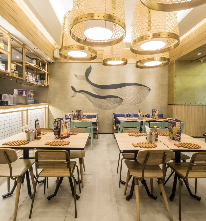 Fish co restaurant by metaphor interior architecture