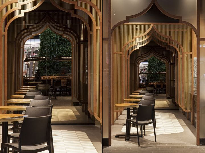 Mumbai express indian restaurant by studiomkz sidney australia retail design blog for Small indian restaurant interior design