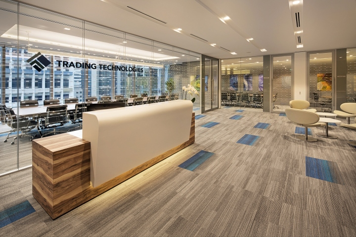 office design firm. monday to friday moods are depicted in new office design by interior firm kyoobid for trading technologies leading software and