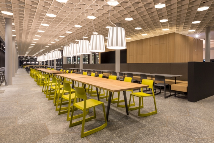 Food market at the eth zurich by barmade interior design zurich switzerland