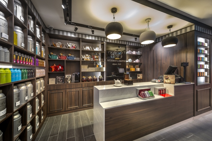 The Elegant Dark Wood Shelves And Flooring Create A Muted Background Which  Allow The Tea Tins To Stand Out. Light And Darkness Are Perfectly Balanced  In ...
