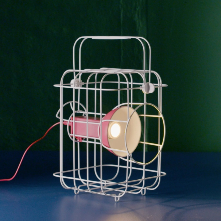 Industrial Lighting Ikea: Caged Lamp By Matali Crasset » Retail Design Blog