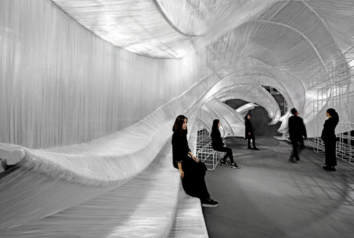 """""""Transparent shell"""" pavilion by Pone Architecture, Guangzhou – China"""