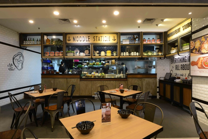 Noodle culture restaurant by metaphor interior