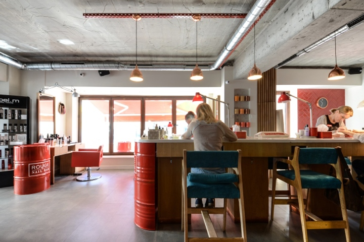 Rouge Nail Bar By Yellow Office Architecture Bucharest Romania