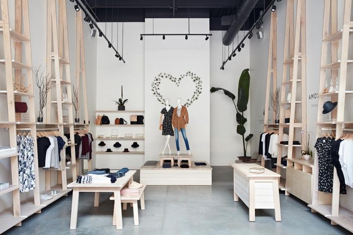 加利福尼亚Amour Vert服装店设计