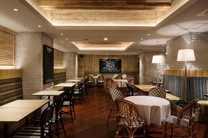 And farms restaurant by design office dress osaka japan for Design hotel osaka