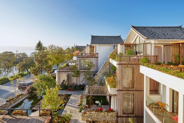 munwood lakeside design hotel by init design office dali