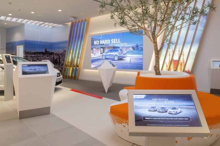 Seat uk showroom by green room retail birmingham uk The green room birmingham