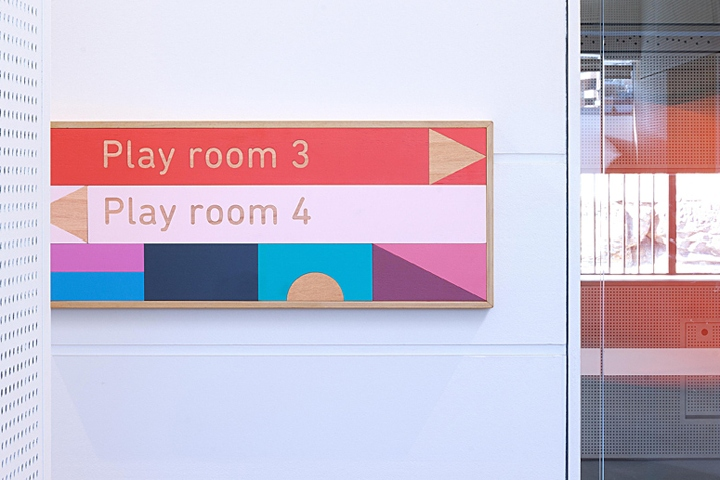 Signage system for childcare center by design by toko sydney