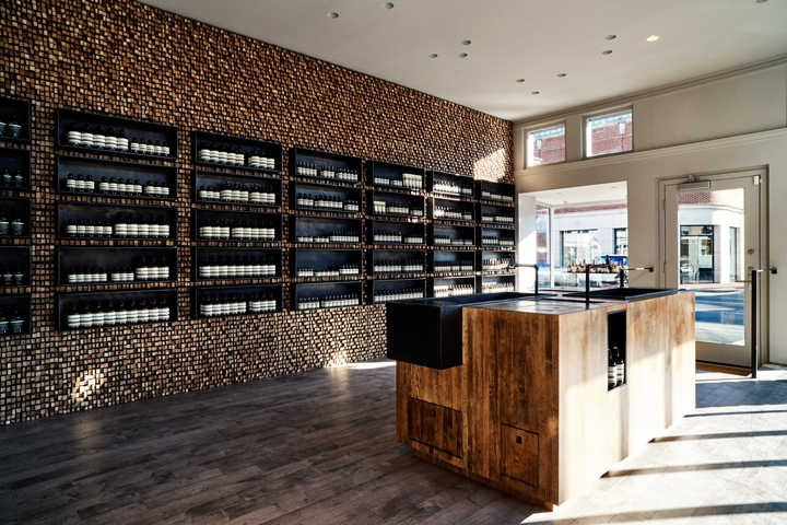 New York Studio Tacklebox Has Clad The Interior Of This Washington DC Store For Skincare Brand Aesop With 100 Year Old Recycled Sticks