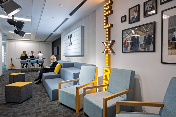 Oktra Has Designed The New Offices Of Business Management Consultants Elixirr Located In London England To Be A Physical Representation