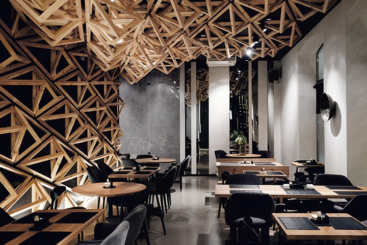 Kido sushi bar by da architects st petersburg russia