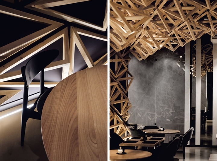 Kido sushi bar by da architects st petersburg russia for Da architecture