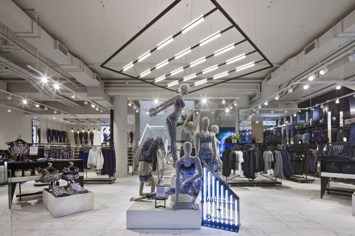 Lululemon store by dalziel pow london uk retail design blog Interior design stores london