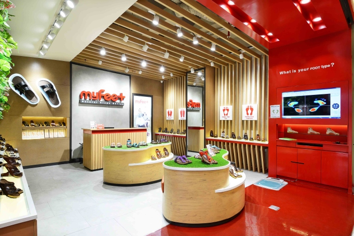 My feet store at gandaria city mall by metaphor interior for Interior design jakarta