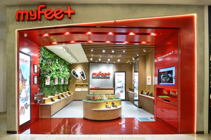 My Feet Store At Gandaria City Mall By Metaphor Interior Jakarta Indonesia