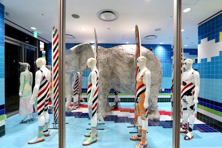 187 Thom Browne Surf Shop Installation Tokyo Japan