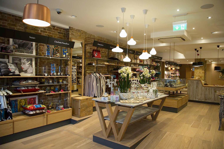 Wrattens shop caf by nugget design london uk retail Interior design stores london