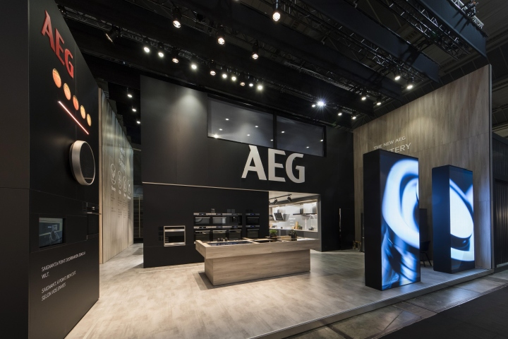 Samsung Exhibition Stand Design : Aeg stand at batibouw by a b project brussels