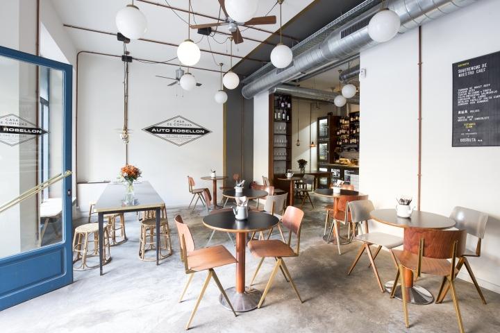 Auto rosellon restaurant by espacio en blanco barcelona