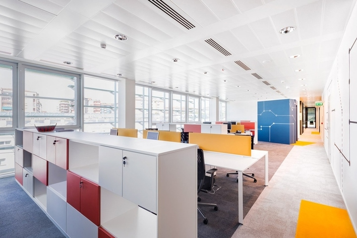 Are the expression of cofidis philosophy in their new offices work stations organized in open plan and meeting rooms interact with informal areas
