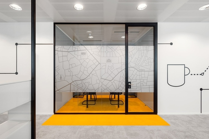 Cofidis italia office by genius loci architettura milan for Office design italia srl