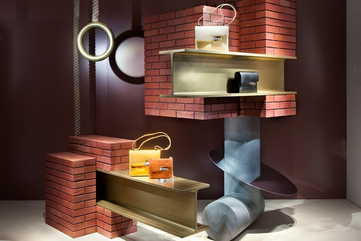 Fotis Evans Bridges The Architecture And Design Worlds In The Madison  Avenue Hermès Window Displays, Combining The Raw Urban Aesthetic Of  Manhattan With ...