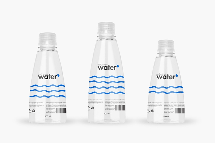 Really Simple Water Packaging By Packvisuals 187 Retail