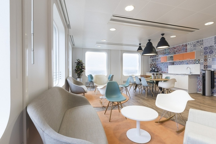Sas offices by cbre design project since interior for Immeuble bureau design