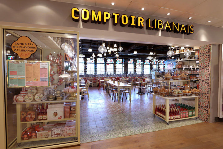 retail design blog comptoir libanais restaurant by. Black Bedroom Furniture Sets. Home Design Ideas