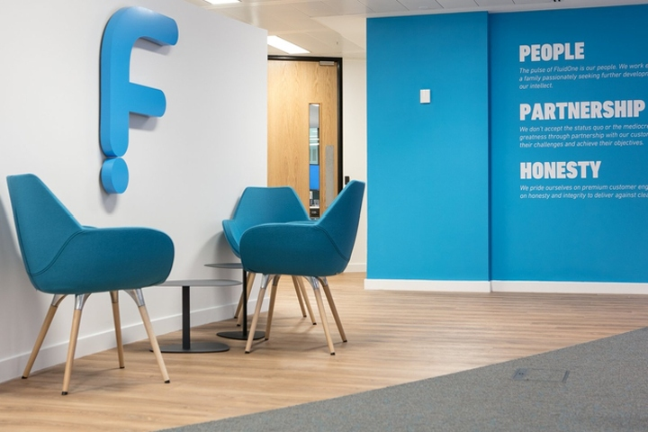 Interaction Has Designed The New Offices Of IT Company FluidOne Located In London England After Going Through A Significant Rebrand