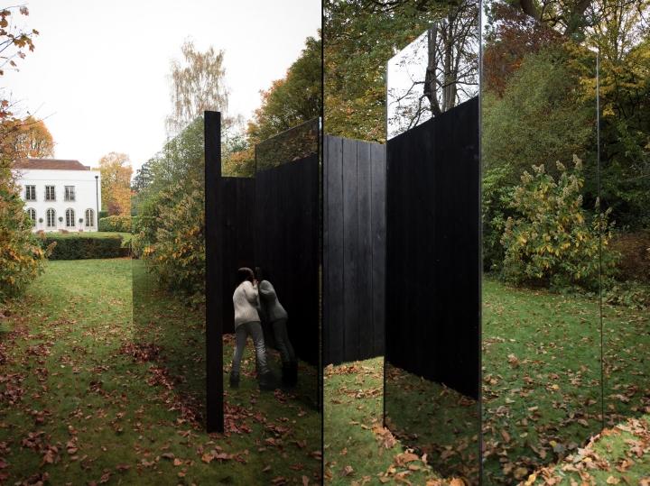 garden pavilion. Https://www.dezeen.com/2016/11/16/scott-kyson-treehouse-charred-timber-smoked-glass- Garden-pavilion-london/ Garden Pavilion