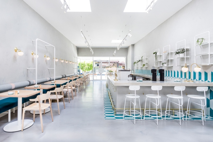 following the success of their first caf st rose in essendon husband and wife team domenic and diana caruso secured a new ascot vale site - White Cafe Design