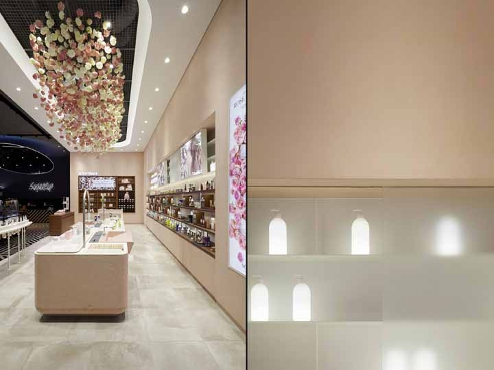 韩国scentence美容护肤店面设计