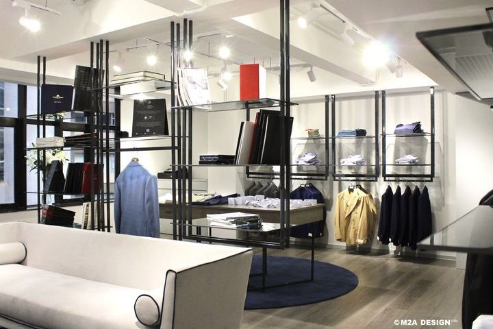 ... hand-sewed suits following the Italian traditions with a unique and  distinctive touch. The idea behind the new DAL DUCA showroom was to create  ...