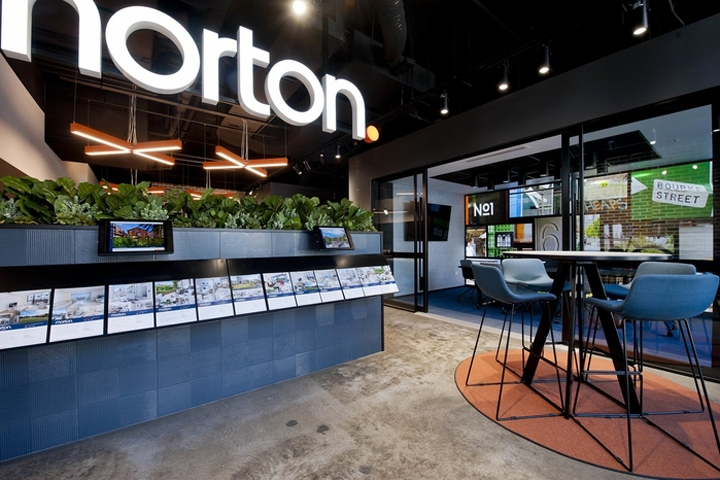 Retail design blog morton real estate office by inscape for Modern real estate office design