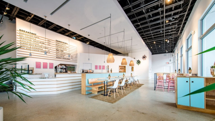 Opposite An Elongated Service Counter Various Seating Arrangements With A Mix Of Furniture Pieces Are Situated Otl Aims To Be Community Hangout Suitable