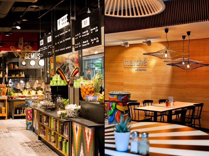The Worldwide Largest March Mvenpick Restaurant Is Designed As A Colourful World With Lush Market Place And Patterns Materials Typical Of