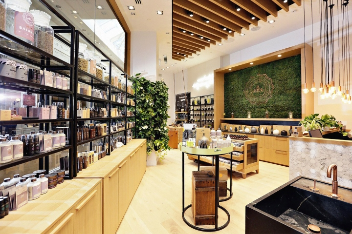 The Sherway Gardens Retail Store Is 618 Square Feet And Triangular Shape.  It Holds A Line Of 100% Natural Aromatherapy Body And Bath Products.