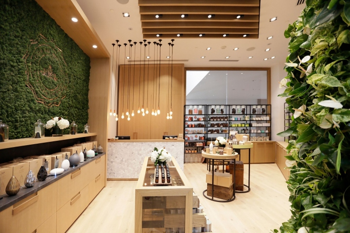Wellness design  Saje Natural Wellness store by Jennifer Dunn Design, Ontario – Canada