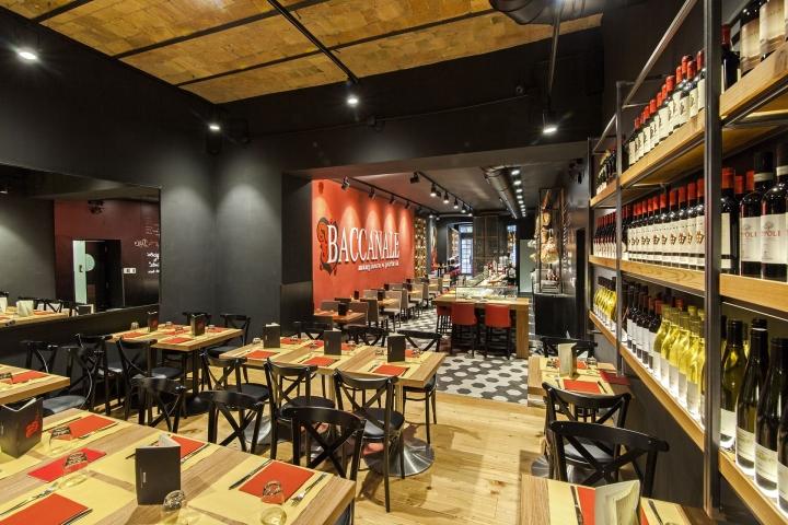 baccanale restaurant by afa arredamenti roma italy