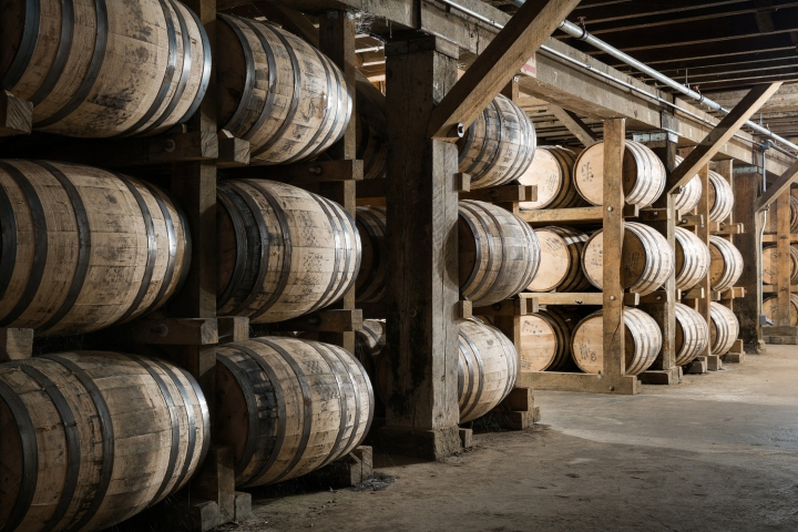 The Angelu0027s Share Is One Of The First Characteristics That Welcomes  Visitors To Barrel House 1 14 At The Jack Daniel Distillery.