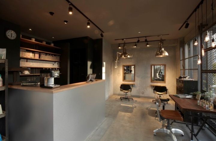 Luck Out Hair Dressing Salon By Bonfield Interiors Tokyo Japan