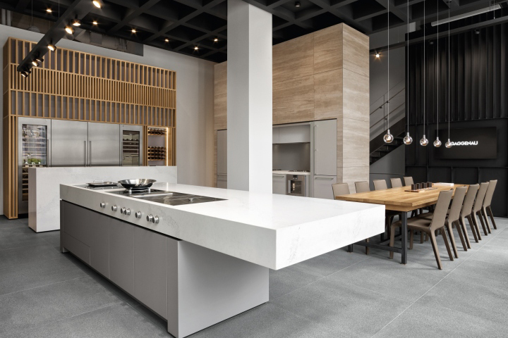 Chicago retail design blog the new space provides an extraordinary blueprint for a showroom its 20 foot ceiling height creates a cube like dynamic with a 3d feel malvernweather Gallery