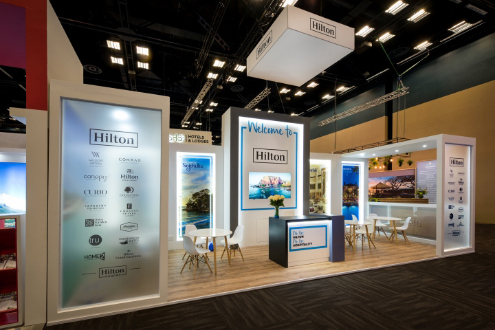 Tourism Exhibition Booth Design : Hilton stand at tourism indaba by whaam concepts