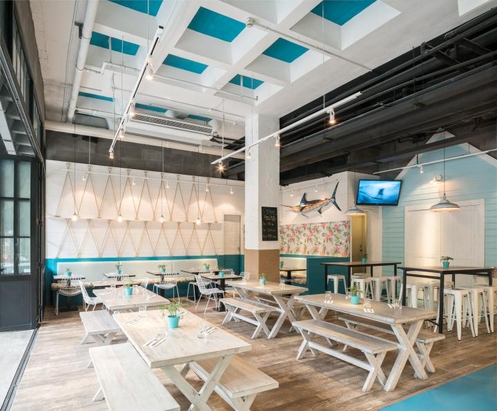 Hooked Seafood Restaurant By Hannah Churchill Shanghai China Retail Design Blog