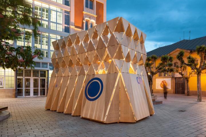 Origami Exhibition Pavilion by Manuel Bouzas Cavada