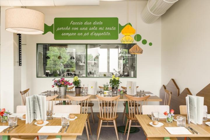 Pulcino bio organic restaurant by emanuele durola design