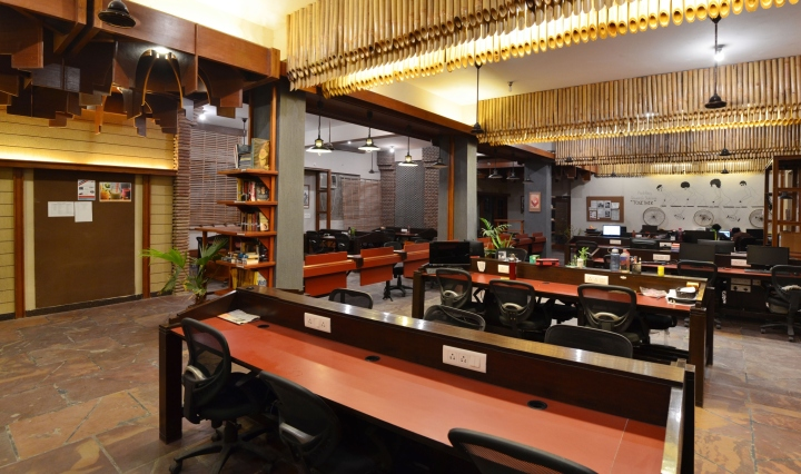 unboxed coworking office by chaukor studio noida india retail